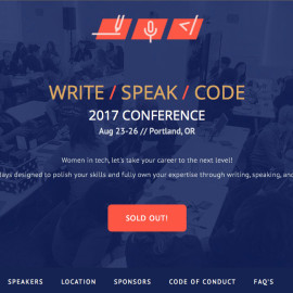 Write/Speak/Code 2017 Conference in Portland, OR